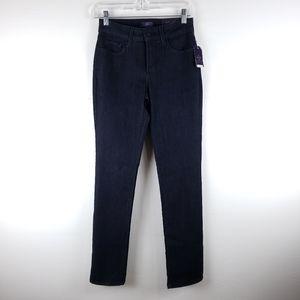 NWT NYDJ Mid Rise Dark Wash Skinny Jeans Size 0